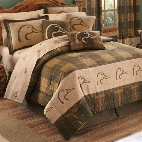 plaid bedding queen ducks unlimited plaid comforter set queen