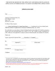 Agent Authorization Letter Sample Gsa example of fcc agency authorization letter in word and pdf