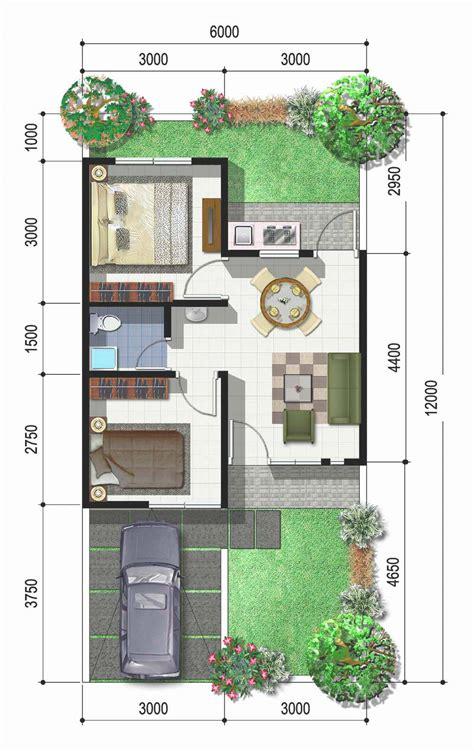 dapatkan gambar desain  denah rumah minimalis type   pilihan gambar desain model