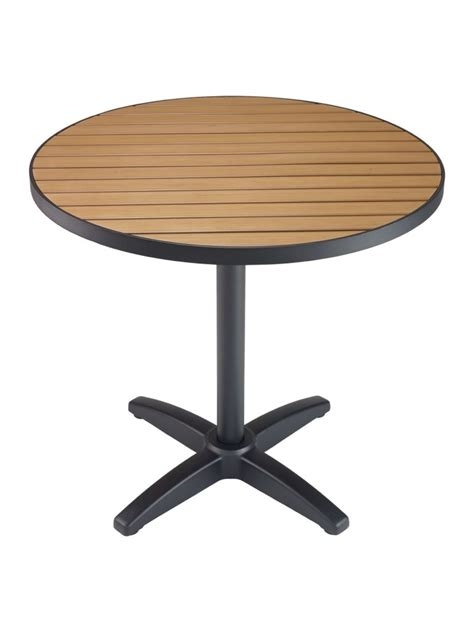 Faux Patio Table Tops by Faux Teak Metal Frame Table Top Sttaptr Commercial