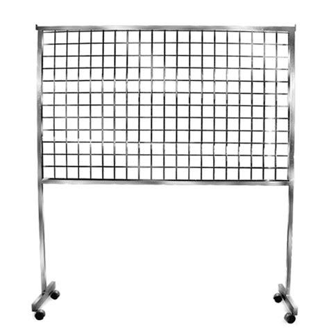 grid screen rolling rack trio display