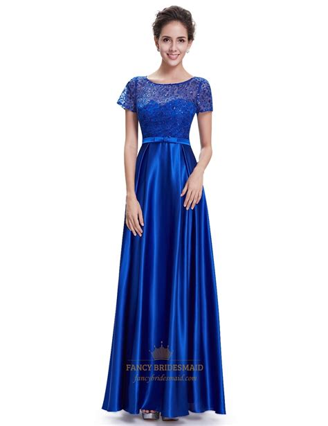 Royal Blue Bridesmaid Dress by Royal Blue Sleeve Bridesmaid Dresses With Lace