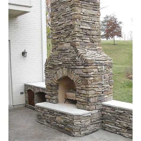42 in firerock arched masonry outdoor wood burning fireplace