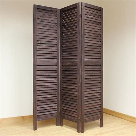 slatted room divider wooden slat room divider screen 3 panel brown room