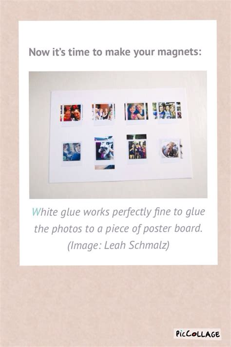 Diy Mini Polaroid Magnets Musely 4x6 Polaroid Template