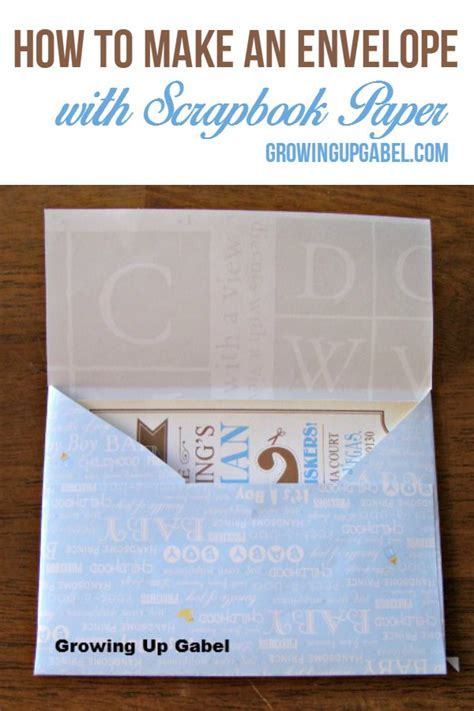 How To Make Envelopes Out Of Scrapbook Paper - how to make an envelope with scrapbook paper