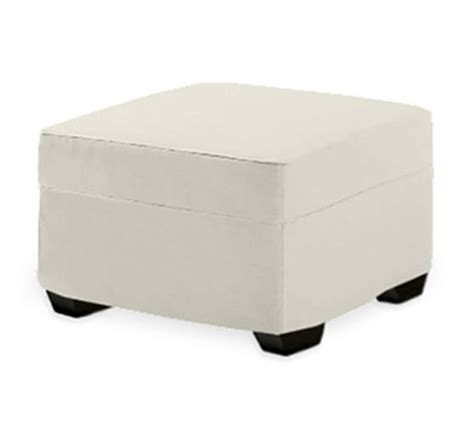 upholstered square ottoman pb square upholstered ottoman pottery barn