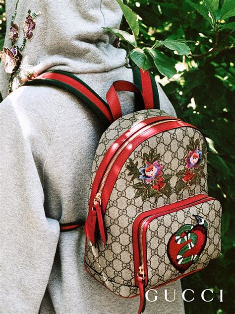 discover more gifts from the gucci garden the gg supreme limited edition backpack featuring an