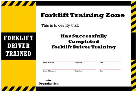 forklift certification wallet card template forklift certification card forklift zone