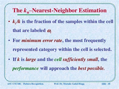 nearest neighbour rule pattern recognition ppt csc446 pattern recognition ln7