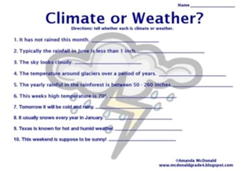 Weather And Climate Worksheets by Weather Worksheet New 869 Printable Worksheets Weather