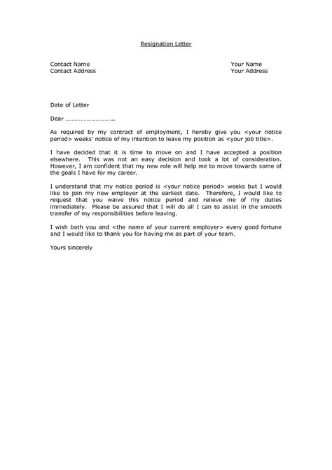 resignation letter format awesome sle resignation