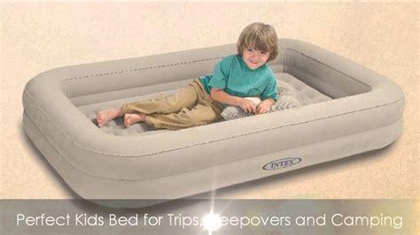 intex kidz travel bed  hand pump youtube