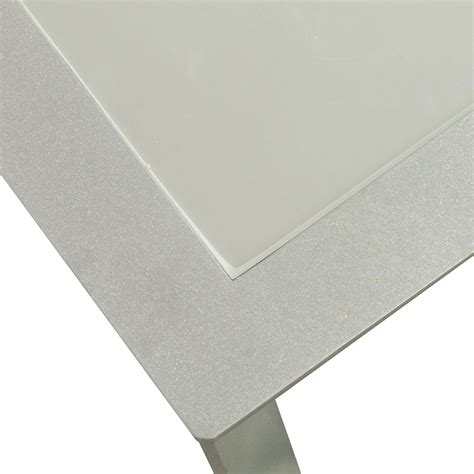 used glass table top used frosted glass top coffee table silver national