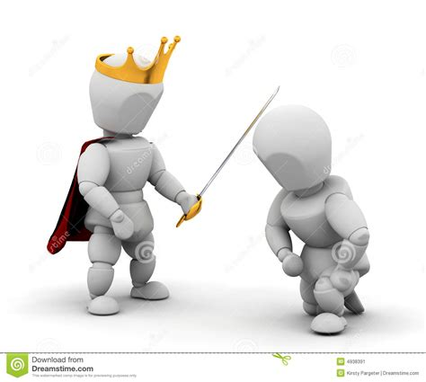 Of Getting by Person Getting Knighthood Stock Image Image 4938391