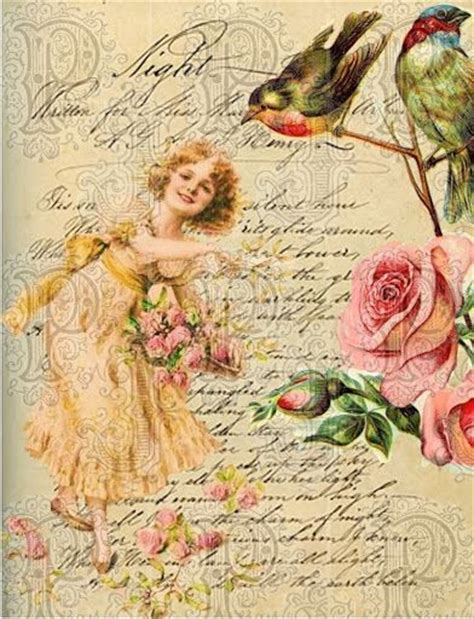 Decoupage Printables - decoupage paper flowers exceptional ephemera