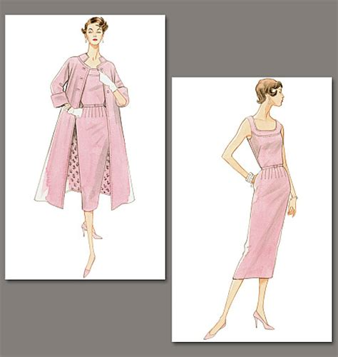 pattern review vogue 9017 vogue patterns 8687 misses dress belt and coat