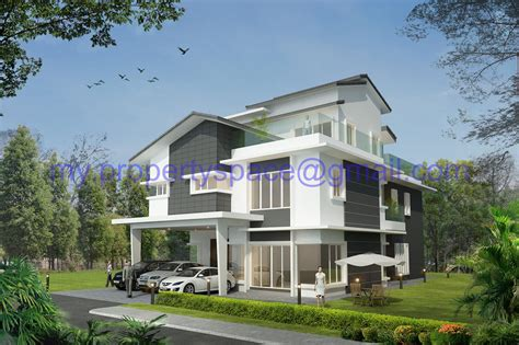 3 Bedroom Ranch Floor Plans by Modern Bungalow House Design Malaysia Contemporary