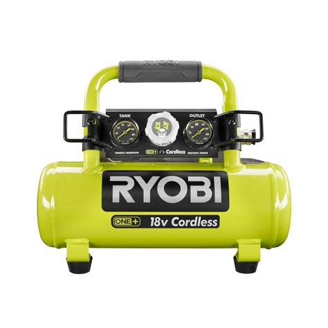 ryobi 18 volt one cordless 1 gal portable air compressor tool only p739 the home depot