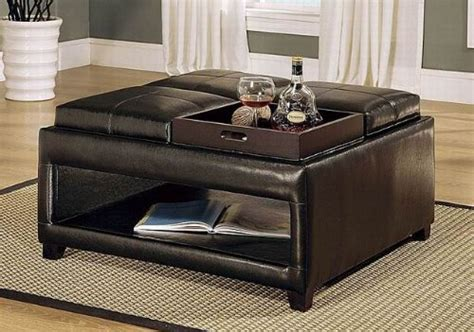 coffee table with four ottomans 36 top brown leather ottoman coffee tables