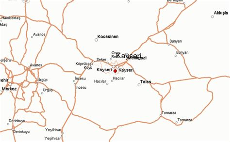 kayseri map kayseri location guide