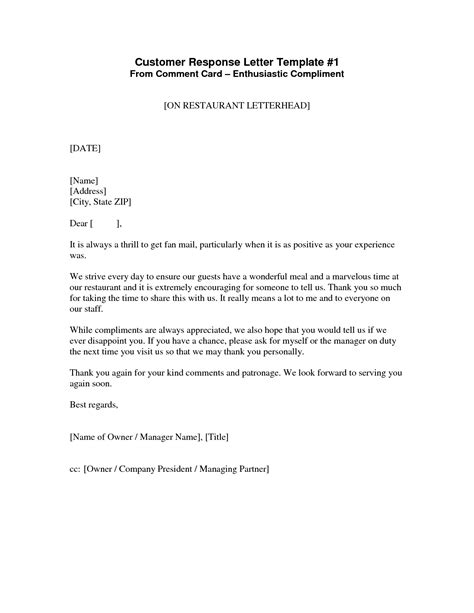 Business Letter Template Response best photos of exle of a response letter response
