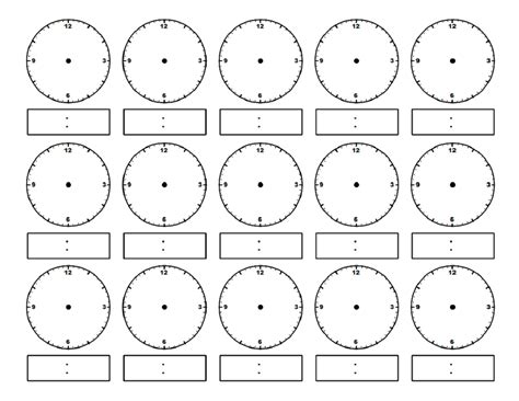 free printable clock activities clock face worksheet
