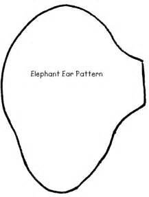 Elephant Ear Template by Elephant Ears And Trunk Template Www Pixshark