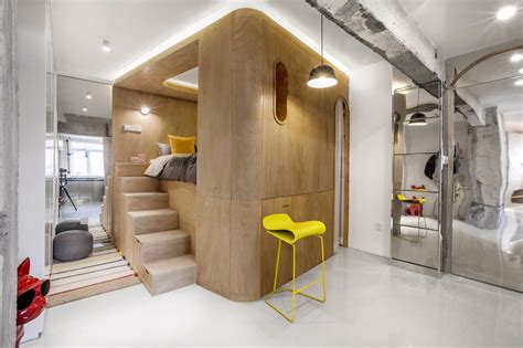 rotated volumes cleverly maximize space   tiny shanghai