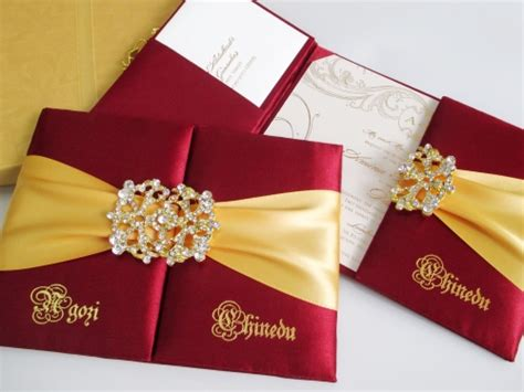 Stylish Wedding Invitations by Invitation Folio With Stylish Embellishment And