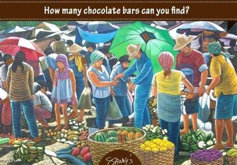 How Many Search How Many Chocolate Bars Can You Find Whatsapp Puzzle
