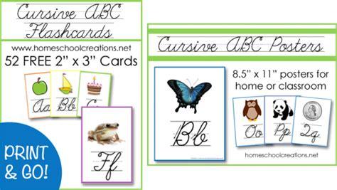 printable cursive alphabet flash cards free cursive abc flashcards and posters printables money