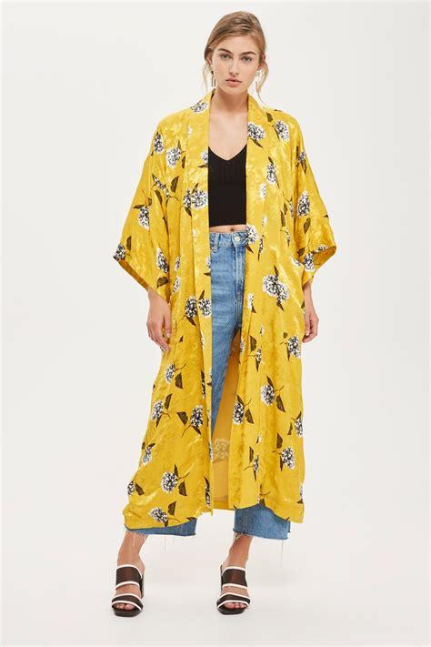 Maxy Kimono floral print maxi kimono jacket topshop