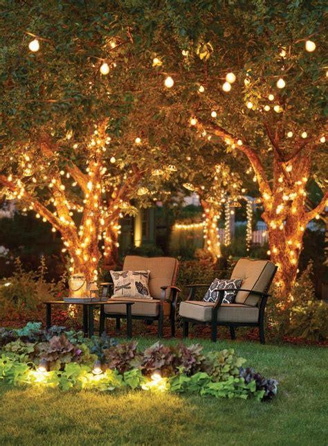 patio garden outdoor deck lighting outdoor tree