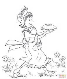 Amelia Bedelia Coloring Pages amelia bedelia carrying lemon meringue pie coloring page
