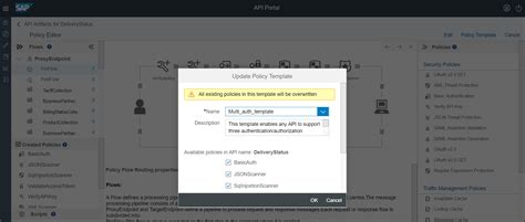 policy management made easy with templates in sap api