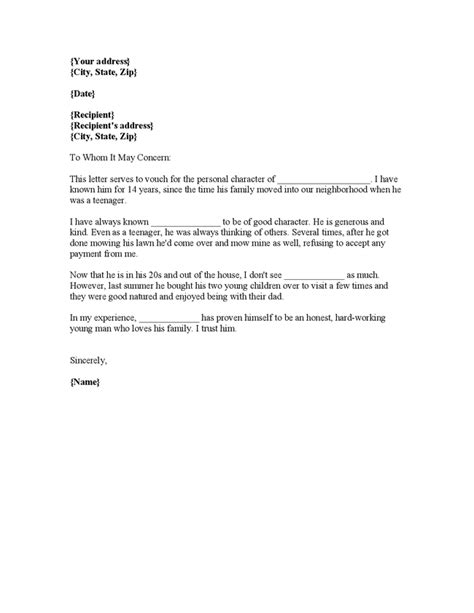 Reference Letter Of Recommendation Letter Personal Search Results Calendar 2015