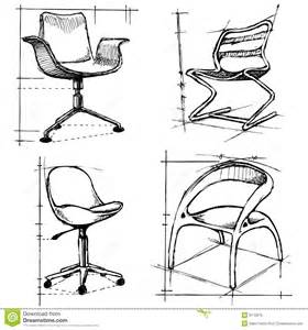 Office Chair Technical Drawing Modern Chairs Illustration Royalty Free Stock Image