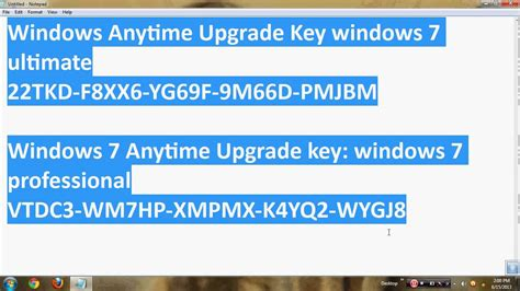 windows 7 ultimate product key 2018 100 working 32 64
