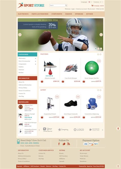 opencart premium templates 10 best sports opencart website templates themes free
