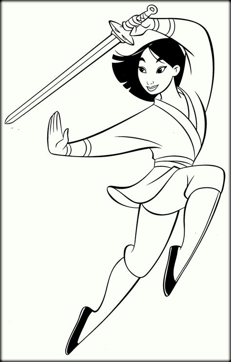 princess mulan coloring page disney coloring pages