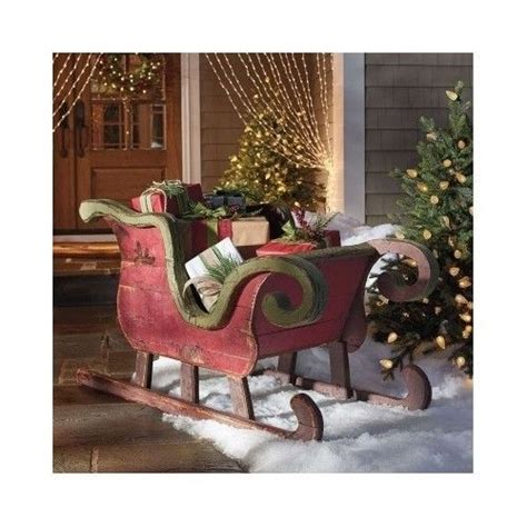 santa and sleigh yard art santa reindeer sleigh outdoor indoor yard prop sled decoration reindeer