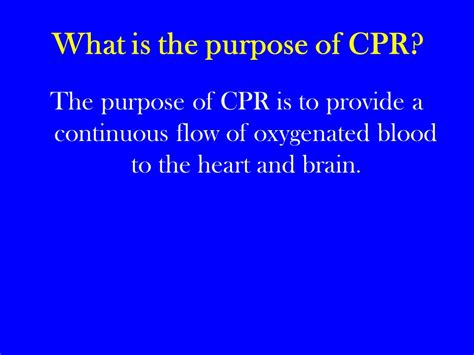what is the purpose of pediatric cpr child cpr infant cpr ppt