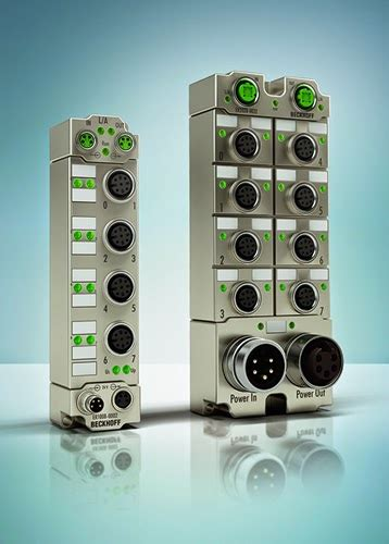 beckhoff new compact i o modules in die cast zinc housings automation inside