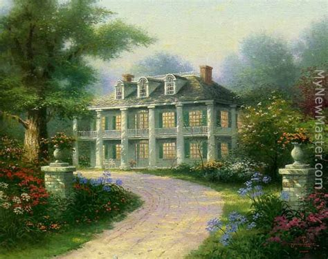 kinkade homestead house painting
