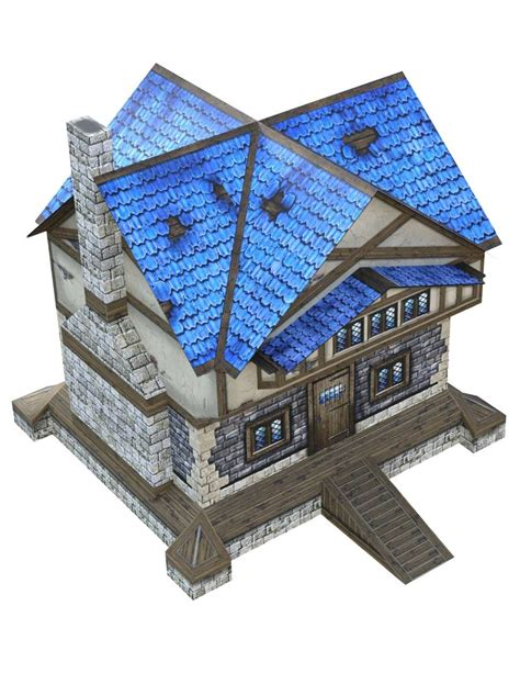 quot 3d quot a house 28mm papercraft wargaming
