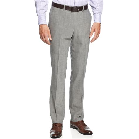 light grey dress pants lyst kenneth cole slim fit light grey sharkskin dress