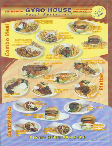 the gyro house gyro house big menu northridge dineries