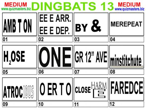 Quiz Questions Dingbats | another dingbat puzzler quiz zone