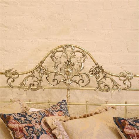 four post bed song all brass wide four poster bed with song bird castings m4p21 at 1stdibs